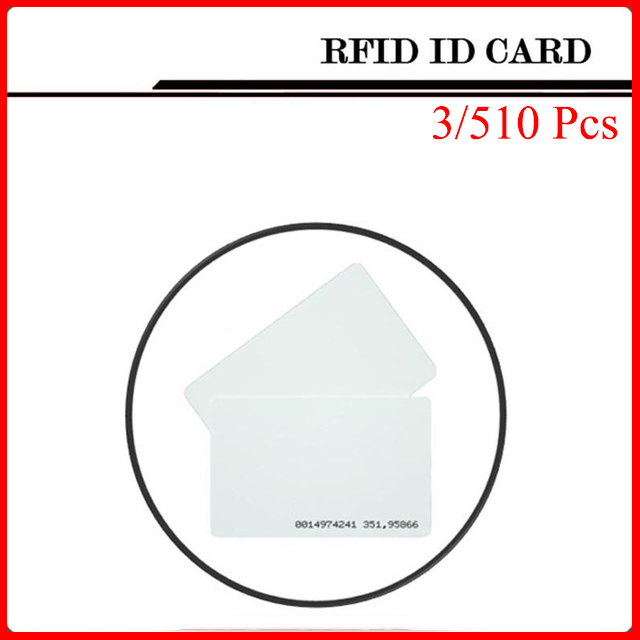 3/5/10 Pcs/Lot White ID Card 125KHZ RFID Card NFC Magnetic Stripe For Access Control System and Timeclock 100pcs lot printable pvc blank white card no chip for epson canon inkjet printer suitbale portrait member pos system