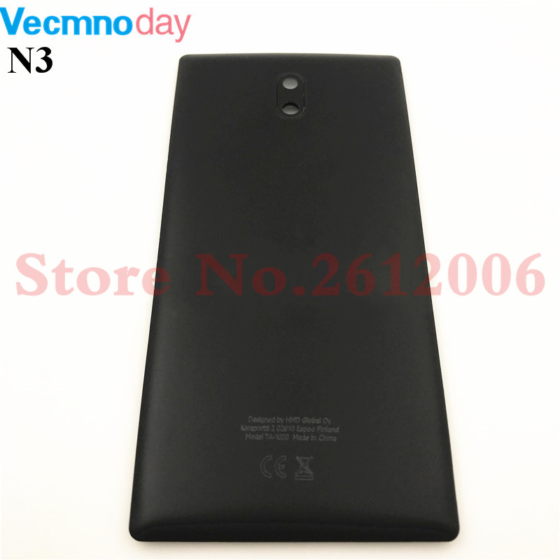 5.0inches Good quality For <font><b>Nokia</b></font> <font><b>3</b></font> <font><b>Battery</b></font> <font><b>Cover</b></font> Housing Cases For Nokia3 Back Door Rear Repair parts With Logo image