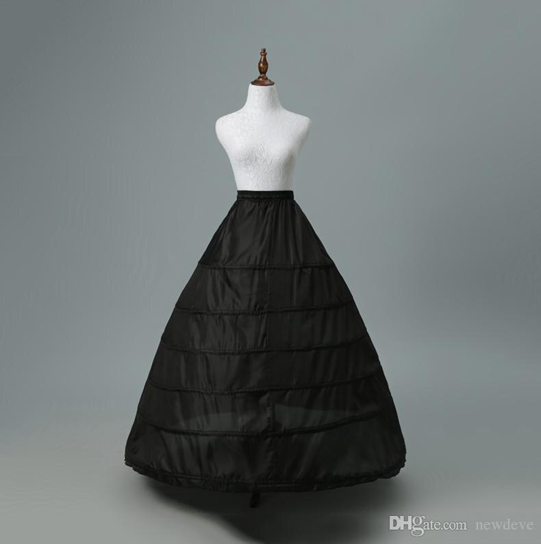 Wholesale Mermaid Crinoline Petticoats Plus Size Sexy Black Bridal Hoop Skirt High Quality Ruffle Wedding Accessories