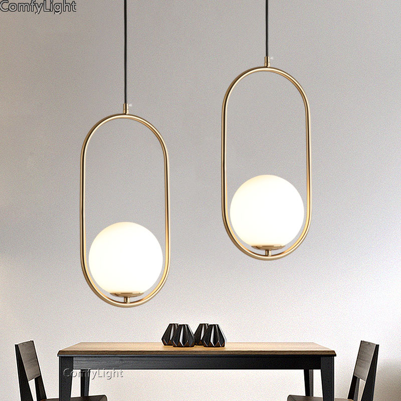 Simple global hanglamps glass ball pendant lights LED E27 art deco Europe hanging lamp bedroom restaurant kitchen island parlorSimple global hanglamps glass ball pendant lights LED E27 art deco Europe hanging lamp bedroom restaurant kitchen island parlor