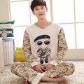Плюс Размер XXXL Хлопок мужская С Длинным Рукавом Пижамы Наборы Pijama Mujer Любители Домашняя Одежда мужская Пижама Устанавливает Camo Камуфляж мода