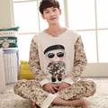 Plus Size  XXXL Cotton Men's Long Sleeved Pajamas Sets Camouflage Pijama Mujer  Lovers Homewear Men's Pyjamas Sets Camo Fashion