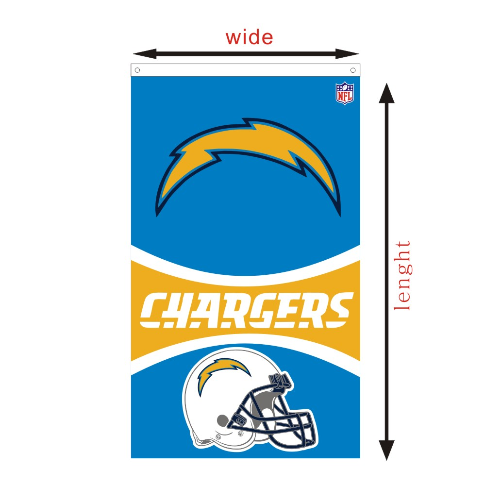 San Diego Chargers Banner: San Diego Chargers Flags Custom NFL Race Flying Flags And