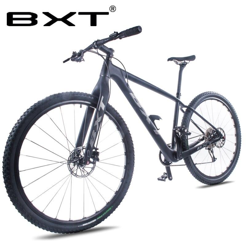 BXT 29 pouces vélo nouveau vélo de montagne en carbone 29er essieu à travers le cadre 11*1 vitesse T800 vtt vélo frein à disque en Fiber de carbone cyclisme