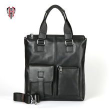 TIANHOO men leather bags messenger & shoulder & handle crossbody bag travel out bags water proof briefcase real cow leather tote