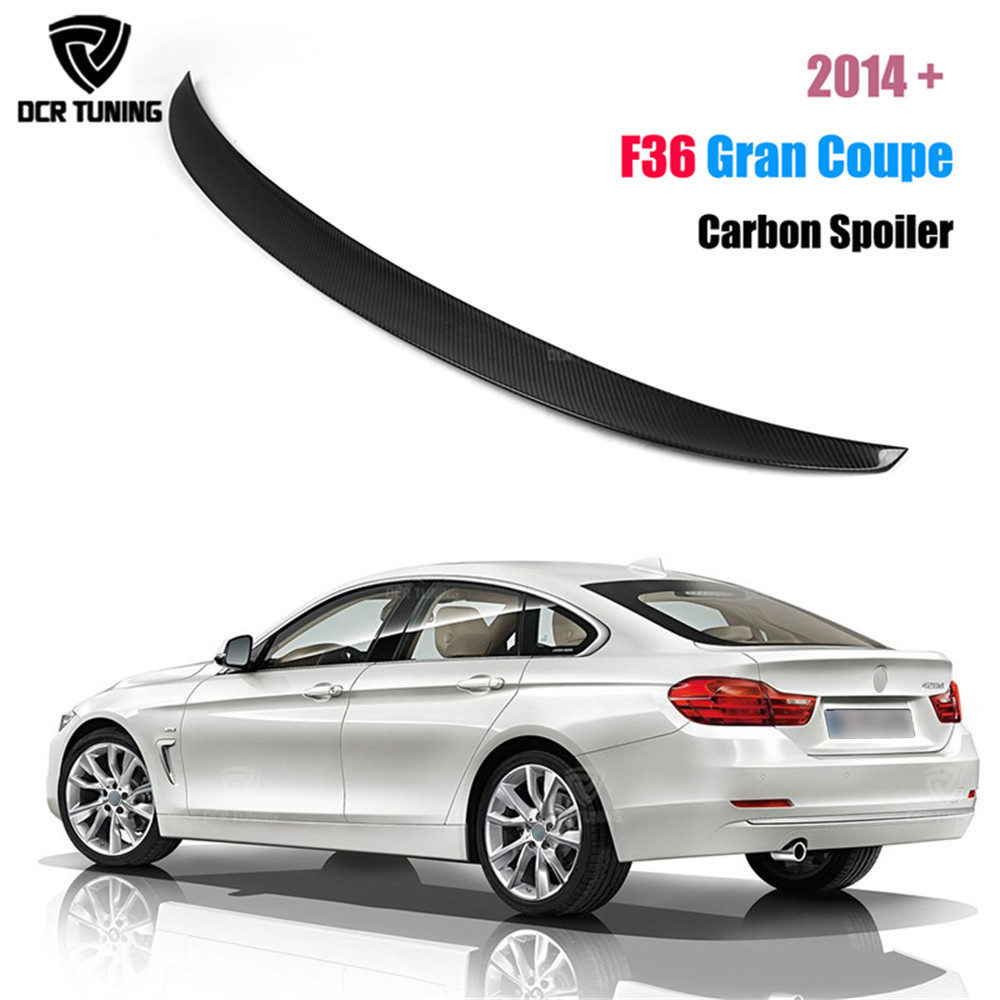 P Style For BMW F36 Spoiler Carbon Fiber 4 Series 4 Door Gran Coupe F36 Carbon Spoiler 2014 2015 2016 - UP 420i 420d 428i 435i p style for bmw f32 spoiler carbon fiber material 4 series coupe f32 carbon spoiler 2 door carbon wings 2014 2015 2016 up