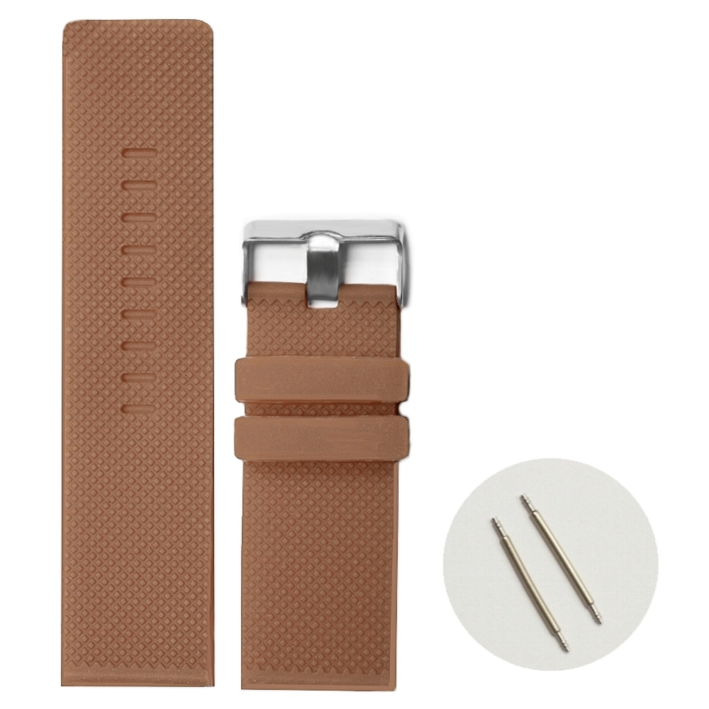 28mm Sweet Chocolate Brown Color Silicone Jelly Rubber Unisex Ladies Mens Watch Band Straps For Change WB1079P28JB