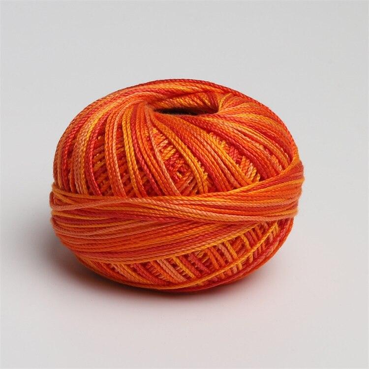 Размер 3 хлопок жемчуг пестрый 50 грамм мяч египетская длинноштапельная хлопковая пряжа газированная двойная мерсеризованная 6 нитей плетение - Цвет: 183