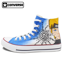Sneakers Anime Converse Chuck Taylor Men Women Shoes Naruto Uzumaki Gaara Custom Deign Hand Painted Shoes Cosplay Gifts