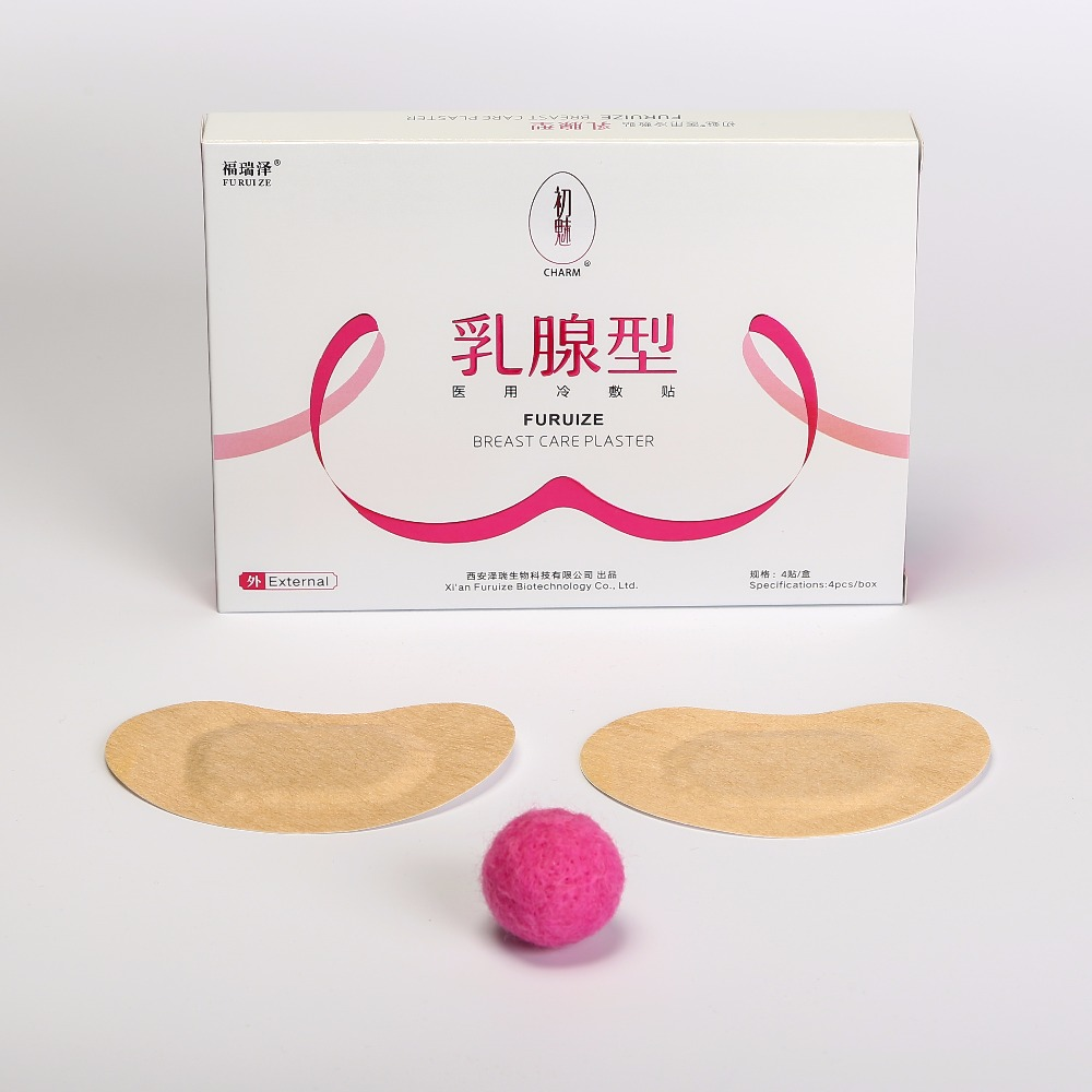 4pcs pack RURUIZE Breast Care Plaster Anti Hyperplasia of mammary glands breast swelling pain mastitis healing