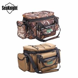 Image 3 - SeaKnight SK003 Fishing Bag Reel lure Bag Multifunction Fishing Backpack 50cm*27cm Reel Case Camouflage Khaki Fishing Tackle Bag