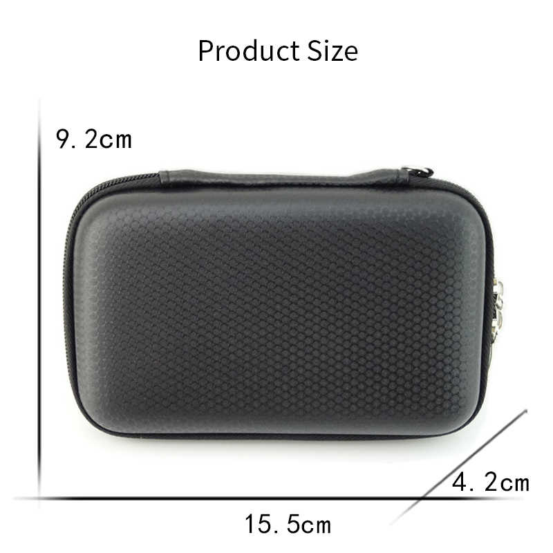 Portable 2.5 inch Hard Drive Shockproof Case Pouch Bag for USB Cable Sleeve Adapter Earphone External Hard Drive Travel Bag
