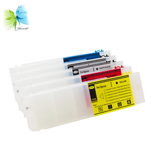 цена на 700ml refillable ink cartridge with chip + 2 sets extra cartridge chip for Epson T3000 T5000 T7000 color printer
