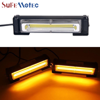 SufeMotec 20W Car LED Strobe Flash Warning Light DRL Amber Red Blue Led Police Signal Emergency