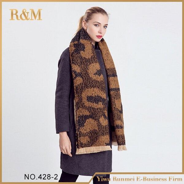 Amazing New Arrival Wool Blend Blanket Oversized font b Tartan b font Winter Scarf Women leopard