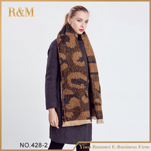 Amazing New Arrival Wool Blend Blanket Oversized Tartan Winter Scarf Women leopard Wrap Shawls and Scarves Plaid Pashmina