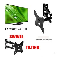 1Pcs Full Motion TV Wall Mount 180Degree Rotate Bracket Supports 17 55Inch LED LCD Flat Screen Universal Telescopic Rack