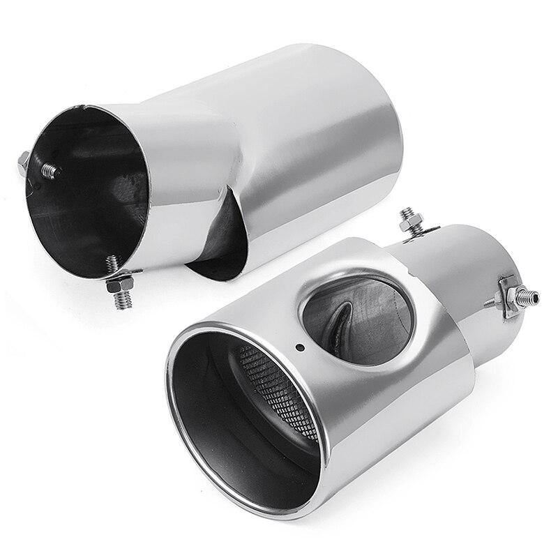 Argent 1 paire de embouts de tuyau d/échappement ovale pour silencieux pour Range Rover Sport 2005-2010