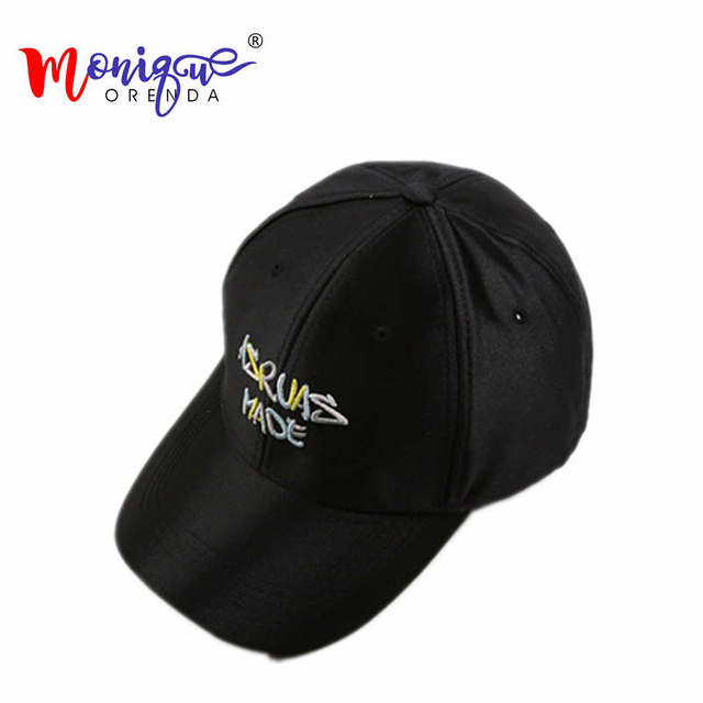 633a3e64b245f Seda bordado letras marca gorras de béisbol casual parejas sombrilla sombrero  hombres mujeres deportes al aire