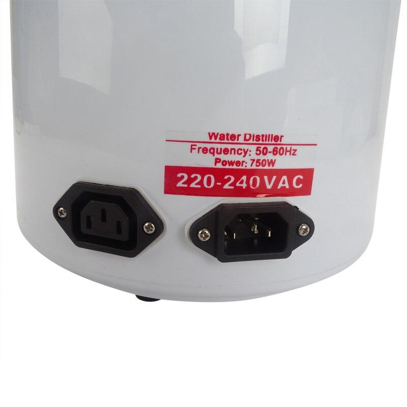 Beste Thuis zuiver Water Distilleerder Filter machine distillatie Purifier apparatuur Roestvrij Staal Water Distilleerder Waterzuiveraar 4L - 3