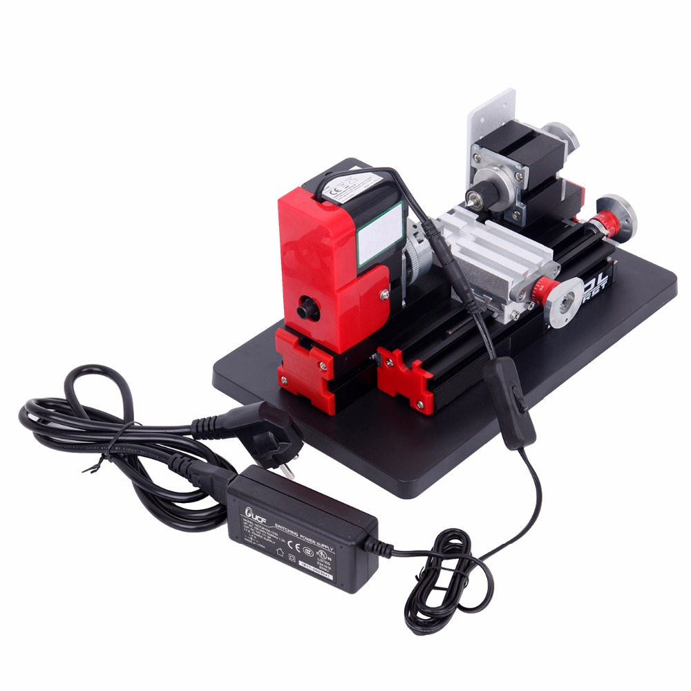(Ship from USA) DIY Mini Metal Motorized Lathe Machine Power Tool Model Making Woodworking usa ship