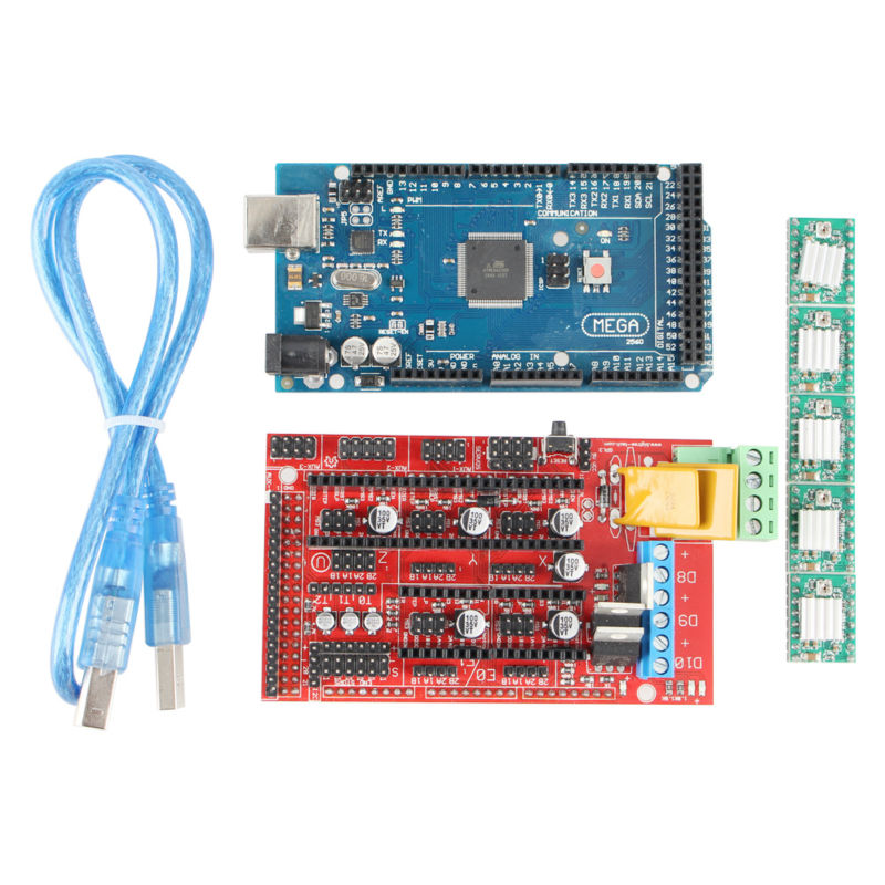Mega 2560 R3 + 1pcs RAMPS 1.4 Controller + 5pcs A4988 Stepper Driver Module for 3D Printer kit MendelPrusa RAMPS 1.4 KIT
