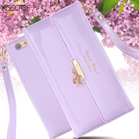 For IPhone 6 Women Fashion Wallet Handbag Flip PU Leather Case For IPhone 6 4