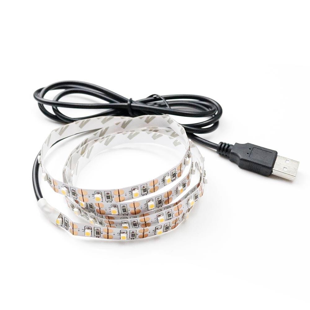 USB-ledare 5V 60leds / m RGB 7 färger lampa Tape SMD 3528 SMD-chip - LED-belysning - Foto 6