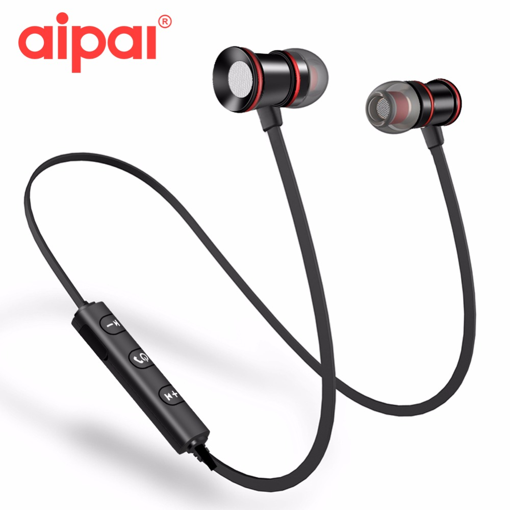 Aipal bluetooth Earphones Magnetic In-ear Wireless bluetooth Earphones With Mic Stereo Sport headsets for Android IOS 3 5mm in ear earphones with mic