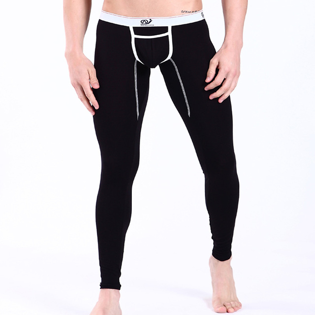 New 2016 warm brand name cotton thermal underwear thermo underwear Low waist man long john underpants