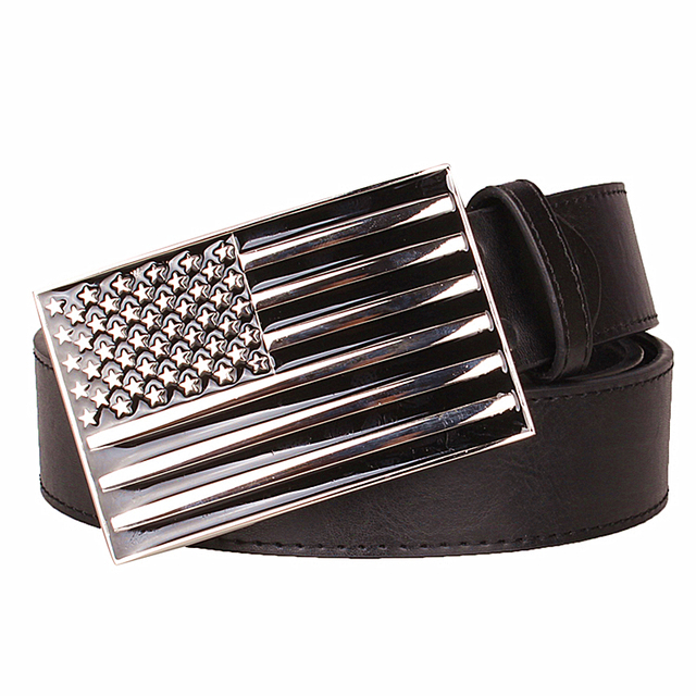 c6e4ab52ef2 Fashion men s belt American Flag Belt Retro Leather Belt US flagMetal Buckle  Gift belts for women hip hop style Waistband
