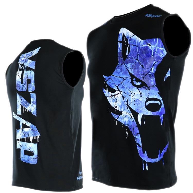 VSZAP GIANT Sleeveless T-shirt MMA Muay Thai Vest Fighting Male Fighting Fitness Running Wulin Wind Wolf