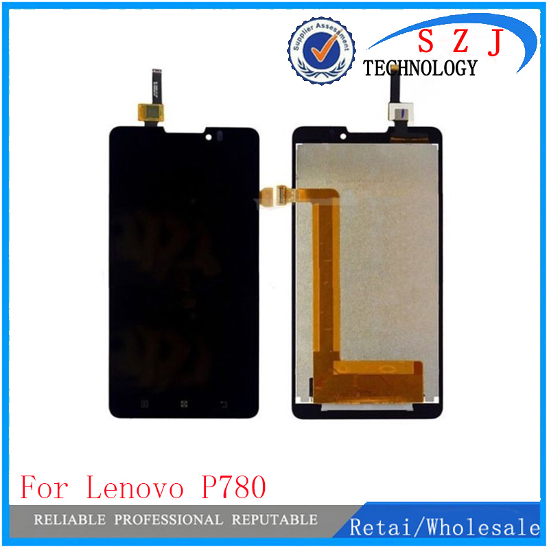 New case For Lenovo P780 LCD Display Touch Digitizer Screen Assembly Complete free shipping new tested lcd for samsung galaxy e5 e5000 e500 screen display with touch digitizer tools assembly 1 piece free shipping