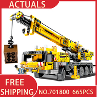 Diy Education Machine Crane Car Brick Learning Building Blocks For Kids Toys compatible with Legoingly Technic Christmas Gifts