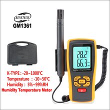 BENETECH Thermomets Digital Thermometer Hygrometer Electronic Outdoor Humidity With Remote Sensor Temperaure Controller GM1361