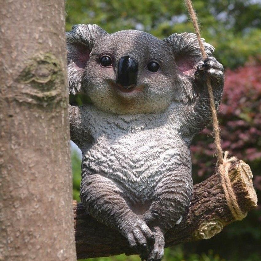 Style pastorale créatif enfants chambre décoration Koala suspendus décorations mignon Animal résine artisanat jardin rocaille ameublement