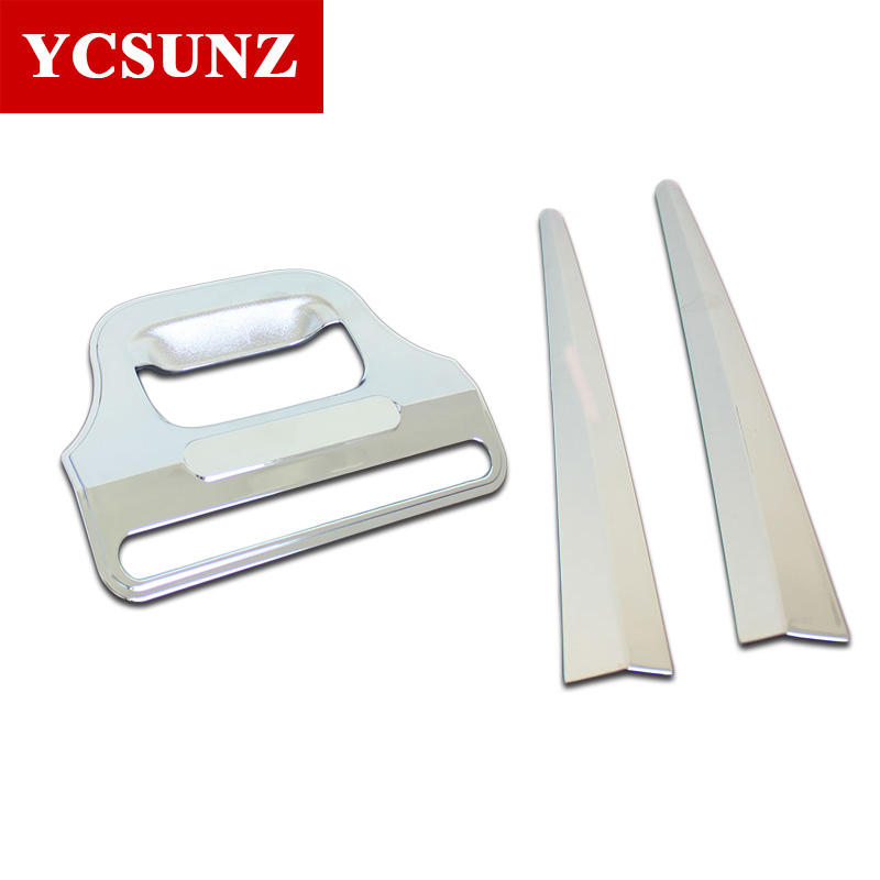 2016 2019 For Mitsubishi L200 Triton Accessories Rear Door Handle Insert Bowl trim rear trim For