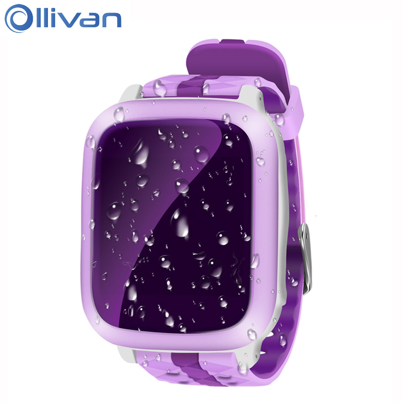 Olivan GPS Positioning Children Smart Watch Waterproof SOS Monitor Child Baby Smartwatch Anti lost GPS Tracker