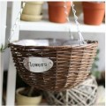 Rattan wicker basket basket hanging pot pot Chlorophytum indoor pot Home Furnishing creative decorations