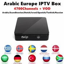 Europa TVIP 410 Amlogic Quad Core 4 GB Flash Android 4.4/Linux Dupla OS TV Box Suporte H.265 Nórdico Assinatura IPTV Caixa Smart TV