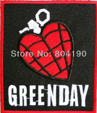 GREEN DAY Heart Grenade Music Band Heavy Metal Iron On Sew On Patch Tshirt TRANSFER MOTIF