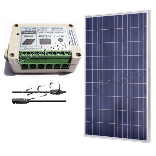 DC House 100W Watt 18V Solar Panel With 2 Pair Y MC4 Solar Connectors Solar System Kits Solar Generators