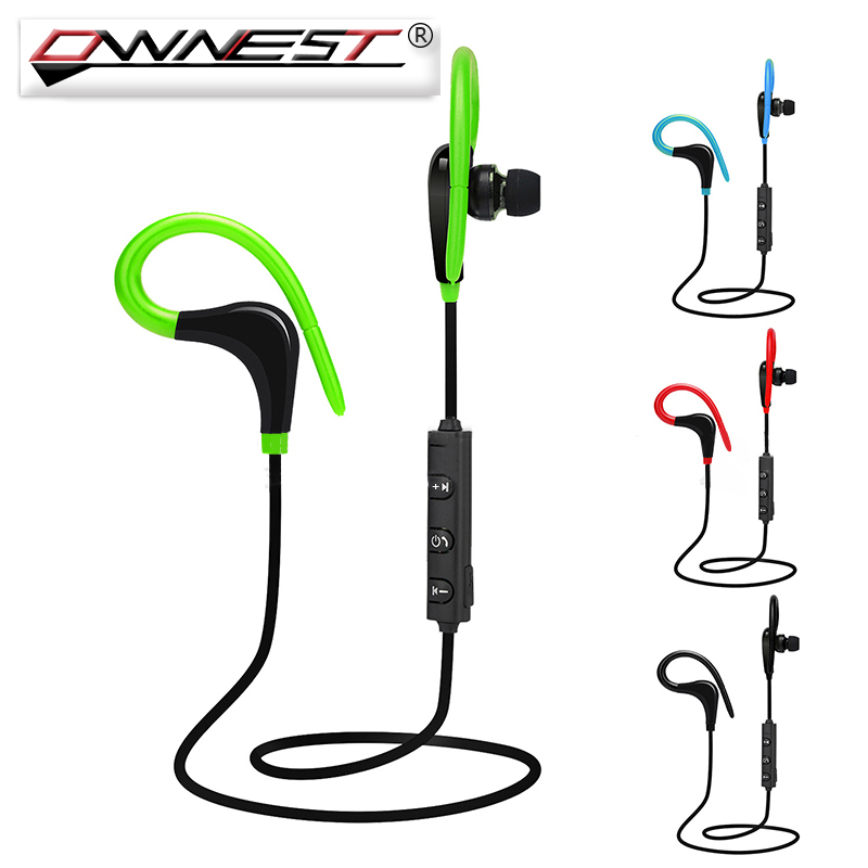 Ownest Wireless Sports Headphones 4.1 Bluetooth Ear Hook In Ear Handfree With Microphone Headset For iPhone Android Phone wireless headphones v4 1 bluetooth earphone stealth sports headset ear hook earpiece with mic for iphone 7 7s samsung xiaomi
