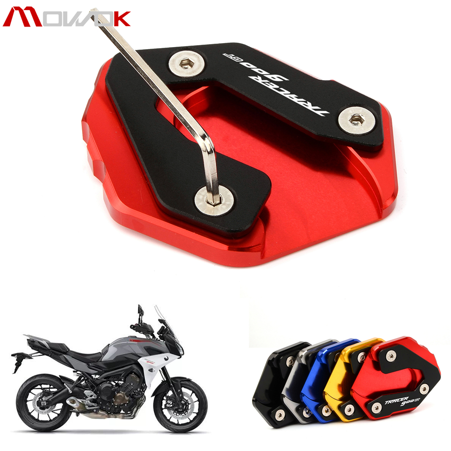 grandes marques convient aux hommes/femmes publier des informations sur US $9.67 25% OFF|For YAMAHA Tracer 900/GT Tracer900 GT 2018 2019 Motorfiets  Accessoires Side Kickstand Stand Extension Ondersteuning Plaat-in Covers &  ...