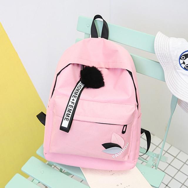 84df7c8de662 US $10.0  2018 Women Backpack New Best Travel Backpack Student School Bag  Korean Hoop Backpack Female Girl Mochila bagpack laptop bag-in Backpacks ...