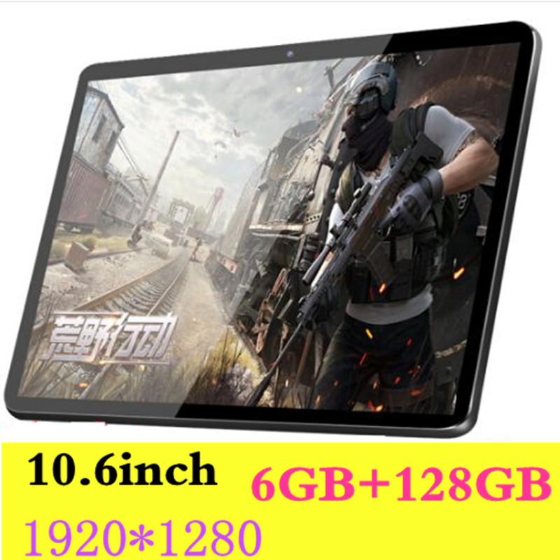Tempered 2.5D Glass 10.6 inch tablet Android 8.0 Octa Core 6GB RAM 128GB ROM 8 Core tablet pc 1920x1280 IPS Screen Tablets 10.1