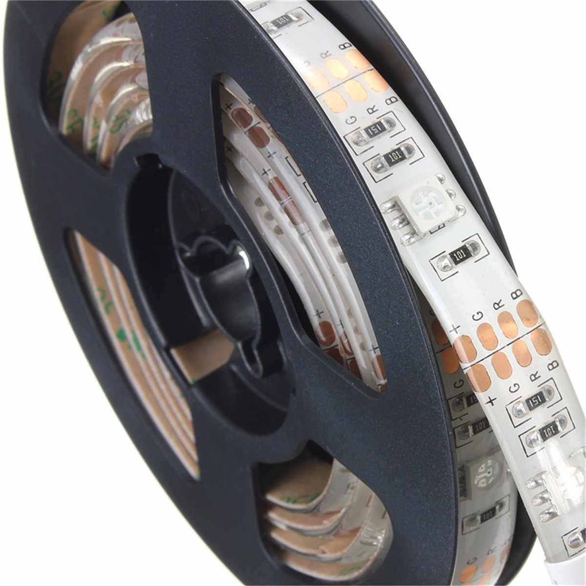 RGB LED قطاع ضوء مع صندوق بطارية مرنة الإضاءة الشريط الشريط 3 وضع 20 الألوان للماء IP65 50 سنتيمتر 100 سنتيمتر 150 سنتيمتر 200 سنتيمتر
