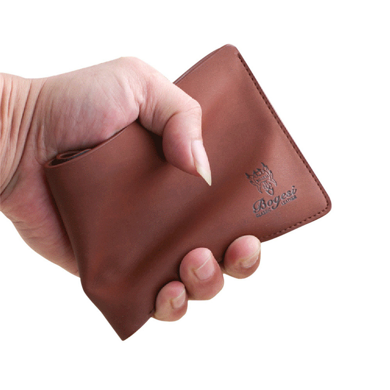 new simple modern boys fashionable Coin Purses  Mens Leather Bifold Wallet Credit/ID Card Holder Slim Coin Purse hot sale f