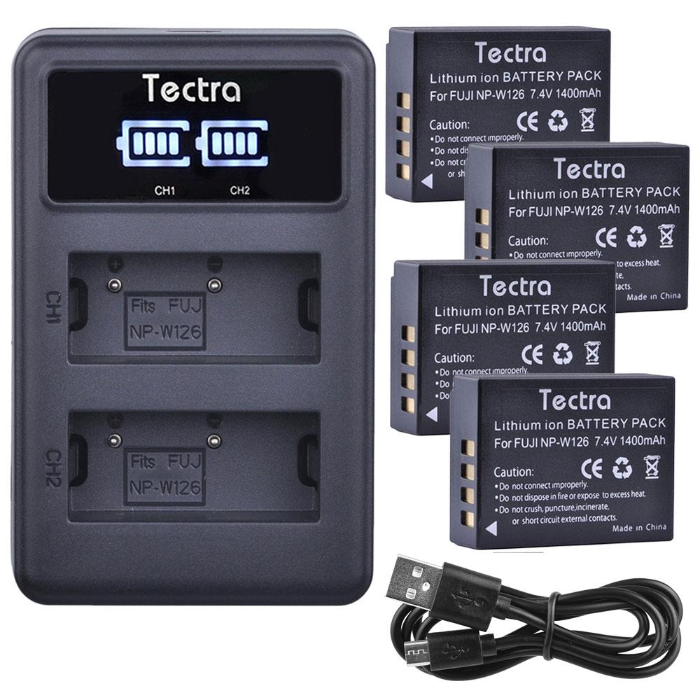 Led-anzeige Usb Dual Ladegerät Vereinigt 1400 Mah 4 Stücke Np-w126 Batterie Für Fujifilm Fuji X-pro1 Xpro1 X-t1 Xt1 Xe1 Hs30exr Npw126 Batterie Digital Batterien Stromquelle