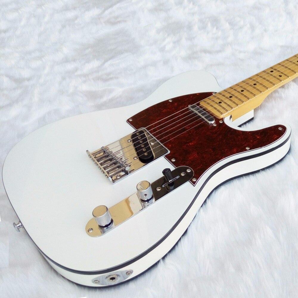 New Electric Guitar TL white body Black binding Maple Fretboard Chinese Custom Shop high quality